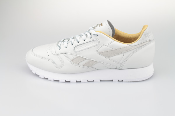 Reebok Classic Leather (True Grey / Gold Metallic / White)