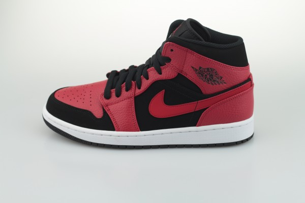 Air Jordan 1 Mid (Black / Gym Red - White)