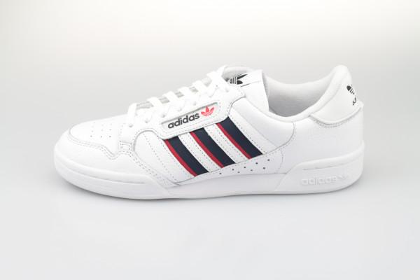 adidas Continental 80 Stripes (Core White / Collegiate Navy / Vivid Red)
