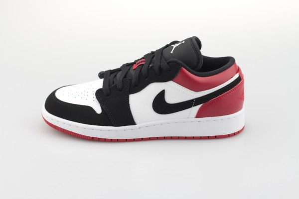 Air Jordan 1 Low GS (White / Black - Gym Red)