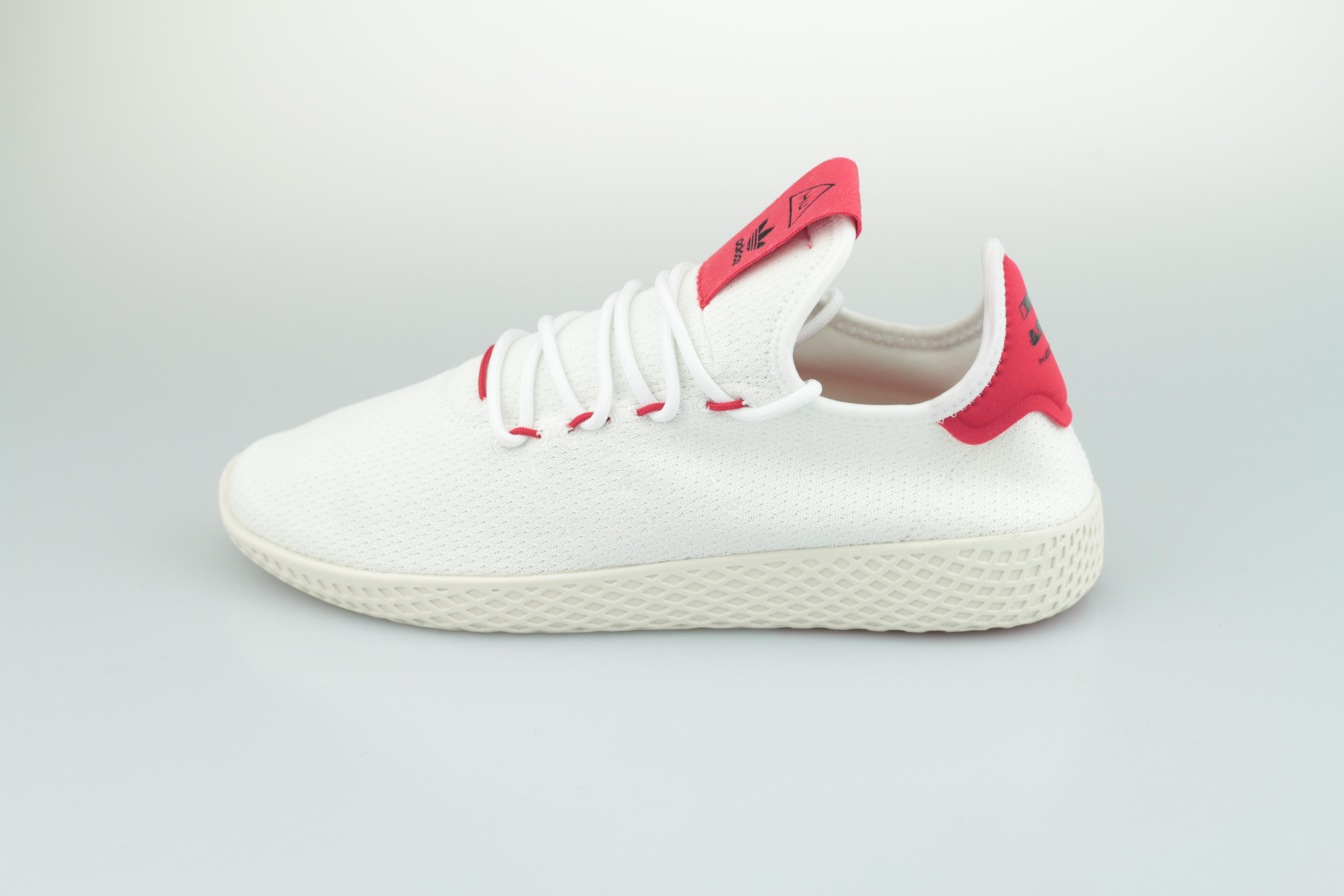 PW Tennis HU (Footwear White Scarlet Chalk White)