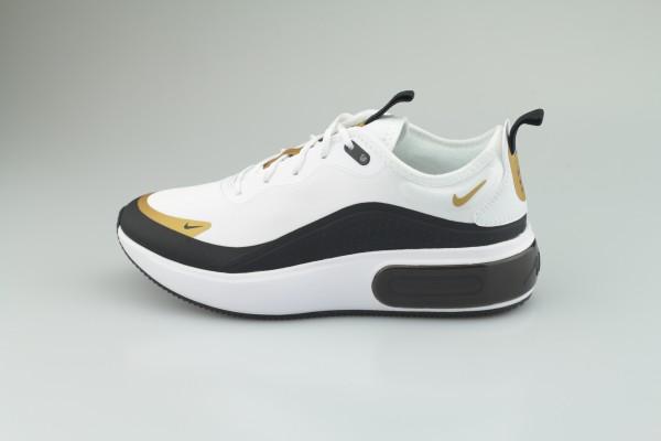 Nike – Air Max Dia – Sneaker in Weiß, Schwarz und Gold