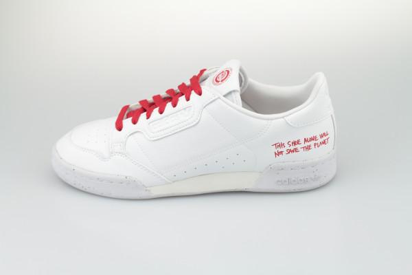 Adidas Continental 80 vegan (Footwear White/Footwear White/Scarlet)
