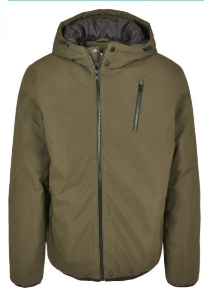 Hooded Sporty Zip Jacket (Olive)