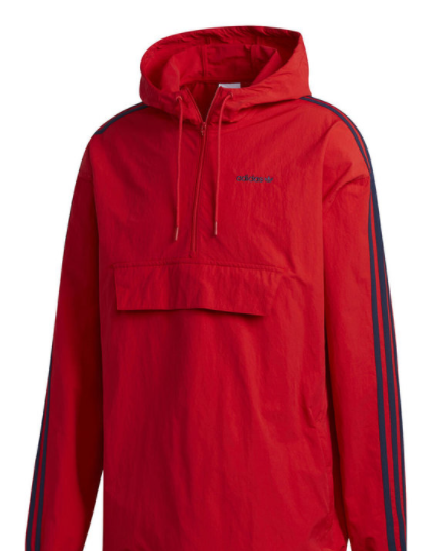 Classics Anorak Windbreaker (red/navy)