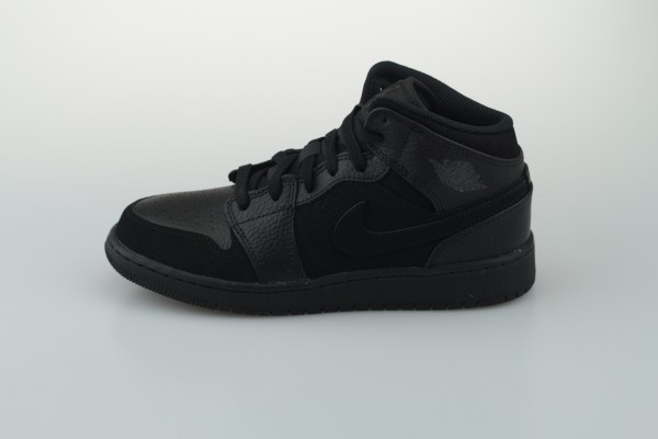 Air Jordan 1 Mid GS (Black / Dark Smoke Grey - Black)