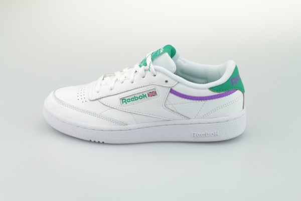 Club C 85 MU (White / Emerald / Grape Punch)