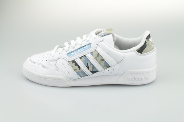 adidas Continental 80 Stripes (White / Camouflage)