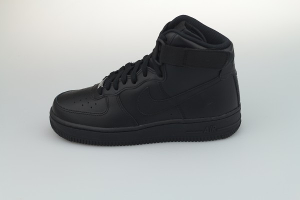 Wmns Air Force 1 High (Black / Black - Black)