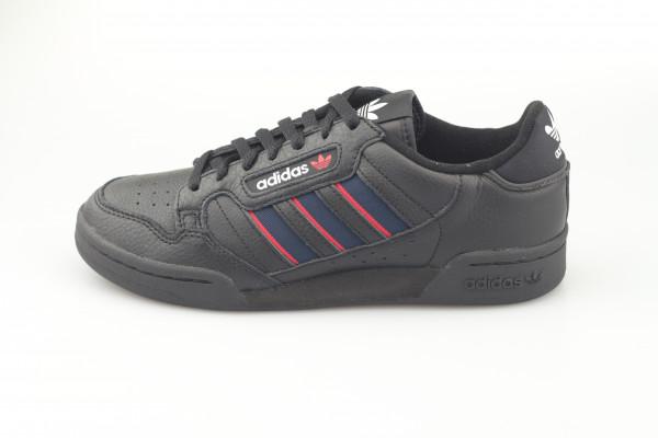 adidas Continental 80 Stripes (Core Black / Collegiate Navy / Vivid Red)