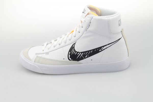 "Blazer Mid '77 Vintage ""Sketch to Shelf"" (White / Black - Platinum Tint)"