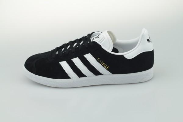 Gazelle (Core Black / Footwear White / Gold Metallic)