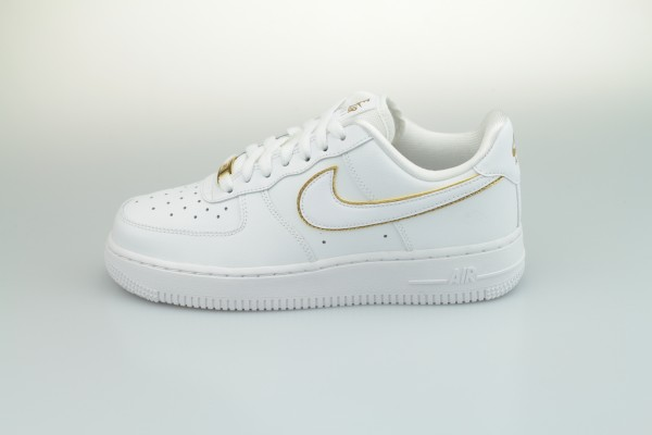 Wmns Air Force 1 '07 Essential (White / White - Metallic Gold - Black)
