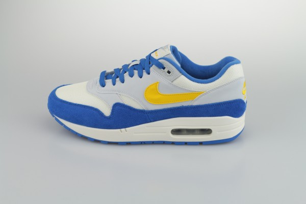Air Max 1 (Sail / Amarillo - Pure Platinum - Signal Blue)