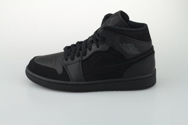 Air Jordan 1 Mid (Black / Dark Smoke Grey - Black)