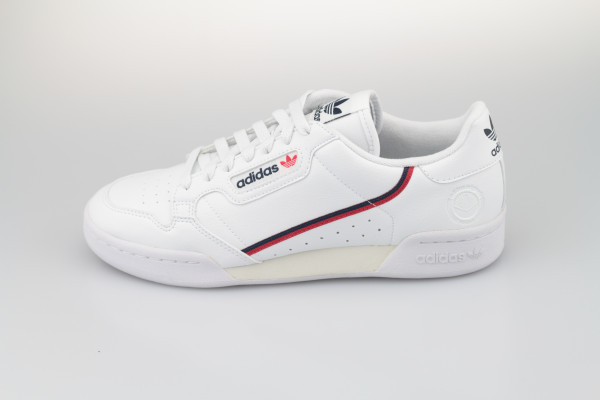 Continental 80 Vegan (Cloud White / Collegiate Navy / Scarlet)