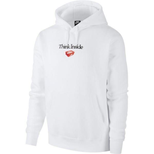 """Sportswear Fleece """"Think Inside"""" Hoodie (White)"""