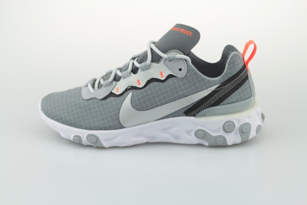 React Element 55 (Cool Grey / Metallic Silver - Hyper Grimson)