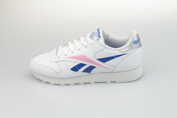 Classic Leather (White / Humble Blue / Jasmine Pink)