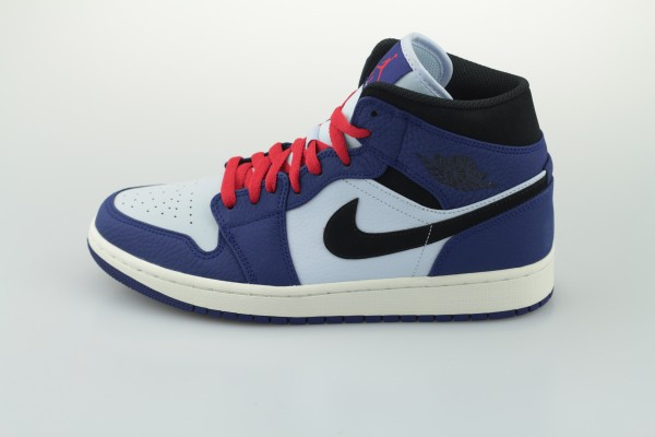 Air Jordan 1 Mid SE (Deep Royal Blue / Black - Half Blue)