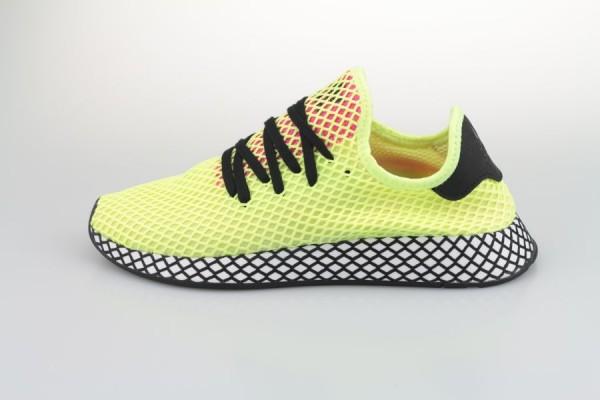 1ac3c6927 adidas Deerupt Runner (Hi Res Yellow   Core Black   Shock Pink ...