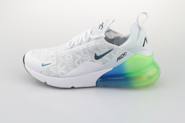 Air Max 270 SE (White / White - Lime Blast - Photo Blue)
