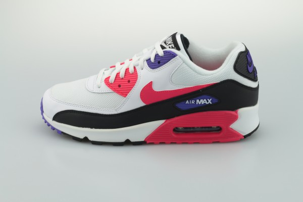 Air Max 90 Essential (White / Red Orbit - Psychic Purple - Black)
