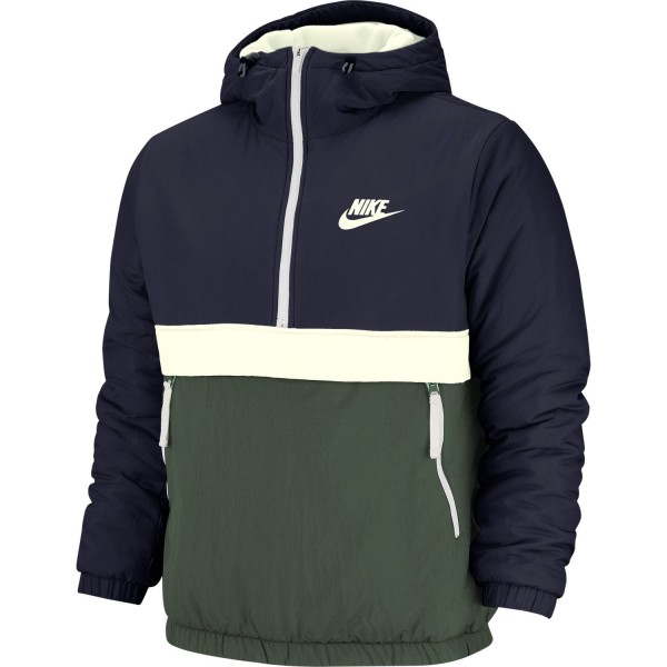 Sportswear Sythetic-Fill Half-Zip Jacket (Obsidian / Galactic Jade / Sail / Sail)