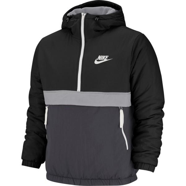 Sportswear Sythetic-Fill Half-Zip Jacket (Black / Anthacite / Wolf Grey / Sail)