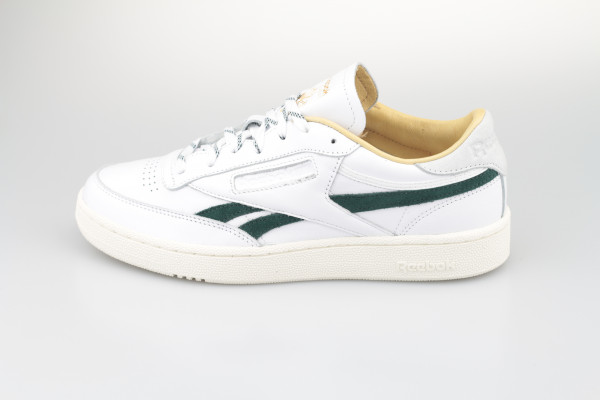 Reebok Club C Revenge (White / Gold Metallic / Forest Green)