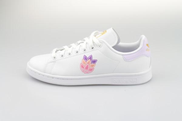 adidas Stan Smith W (Cloud White / Purple Tint / Matte Gold)