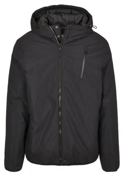 Hooded Sporty Zip Jacket (Black)