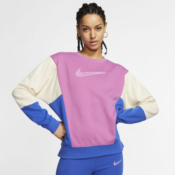 Nike Wmns Crewneck ( White / Magic Ember /Barely Rose )