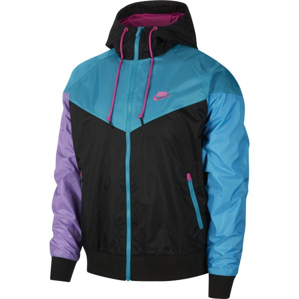 Sportswear Windrunner (Black / Black / Laser Fuchsia)