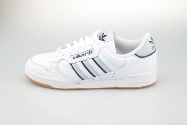 adidas Continental 80 Stripes (White / Light Blue / Navy)
