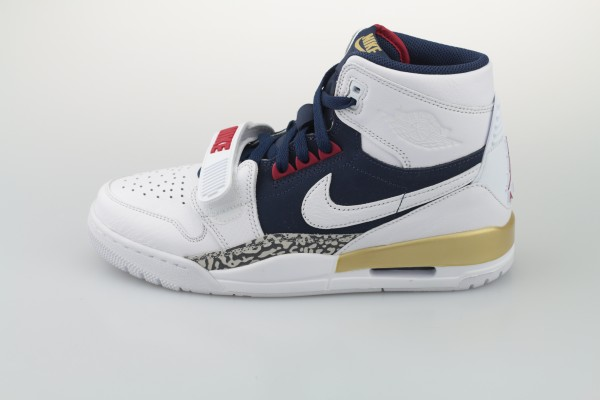 Legacy 312 (White / White - Midnight Navy - Varsity Red)