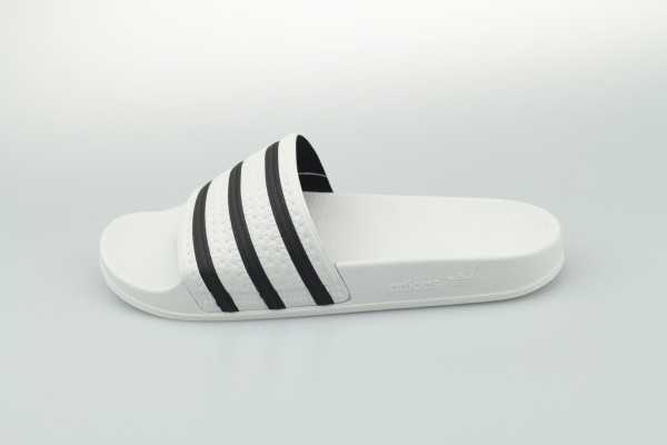 adilette (White / Core Black / White)