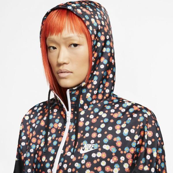 Nike Wmns Woven Jacket ( Black / Black / White )