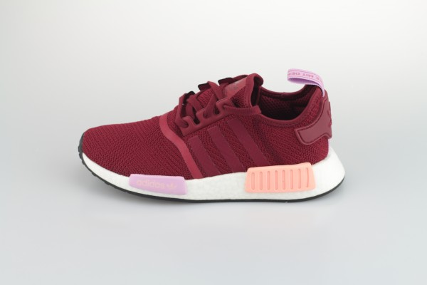 NMD_R1 W (Collegiate Burgundy / Collegiate Burgundy / Clear Orange)